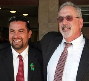 Salerno, left, and attorney Levinsohn